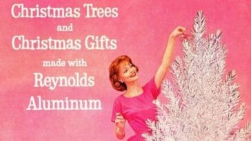 why aluminum christmas trees were so popular in the '50s
