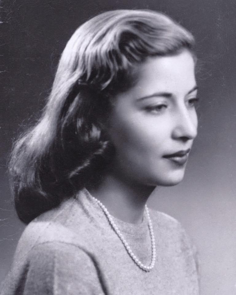 young ruth bader ginsburg black and white photo