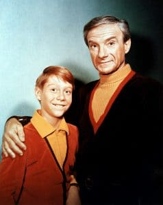 Bill Mumy and Jonathan Harris as Will Robinson and Dr. Smith
