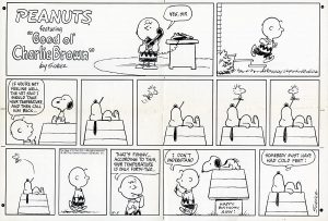 Charlie Brown and the gang started on a syndicated comic strip that since grew to an international sensation