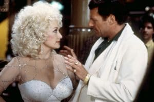 Dolly Parton and Ron Liebman in Rhinestone