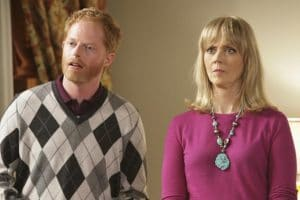 Jesse Tyler Ferguson and Shelley Long in Modern Family