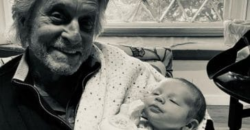 Michael Douglas and his newest grandson Ryder first meet
