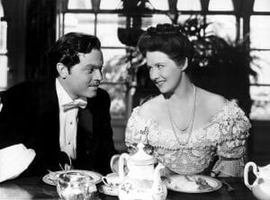 Orson Welles and Ruth Warrick in Citizen Kane during the breakfast scene