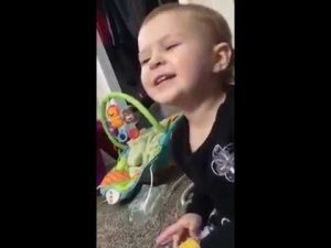"""Two-year-old Sophia singing """"Jolene"""" while her mother records"""