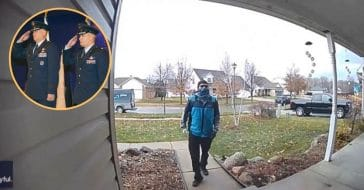 delivery driver salutes home of air force member (1)