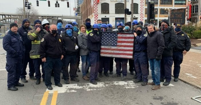 first responders recover american flag belonging to veteran in nashville explosion