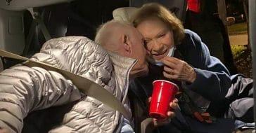 jimmy carter rosalynn new years kiss