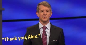 ken jennings signs off jeopardy with _thank you alex_