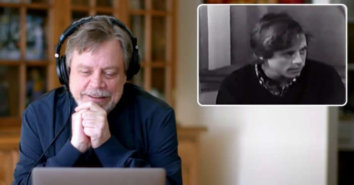 mark hamill reacts to old star wars screen test footage
