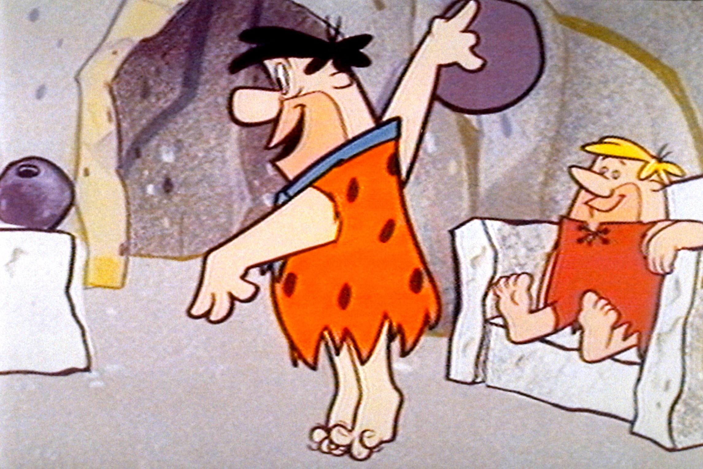THE FLINTSTONES, Fred Flintstone, Barney Rubble