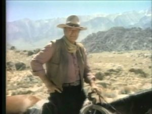 As a famous actor, John Wayne appeared in several ads, and in 1977, so did two of his children