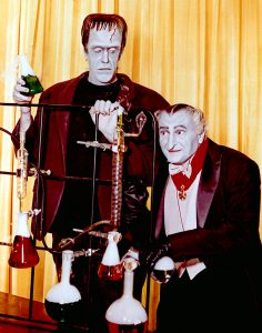 Fred Gwynne with Al Lewis as their Munster family counterparts