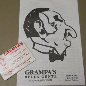 Grampa's Bella Gente restaurant
