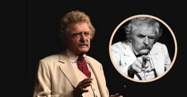 Hal Holbrook as Twain