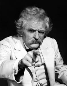 Holbrook becomes Mark Twain
