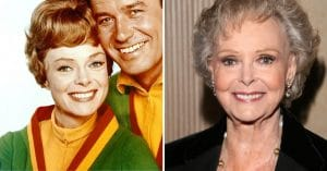 June Lockhart in Lost in Space, and at the Academy of Magical Arts 40th Annual Awards Show and Banquet