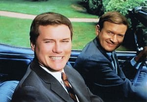 Larry Hagman and Bill Daily