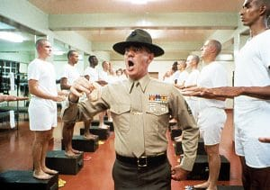 No one dared ross R. Lee Ermey in his Full Metal Jacket role