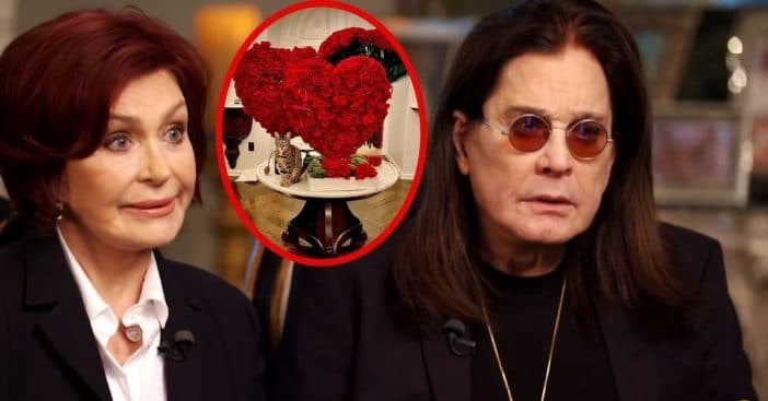 The flower arrangement Ozzy Osbourne gifted his wife resembles a floral explosion of symbolism
