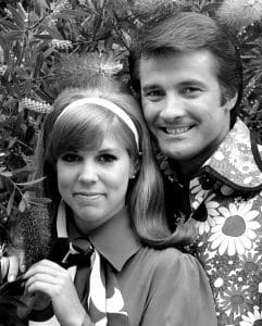 Vicki Lawrence as Lyle Waggoner as part of the Carol Burnett Show