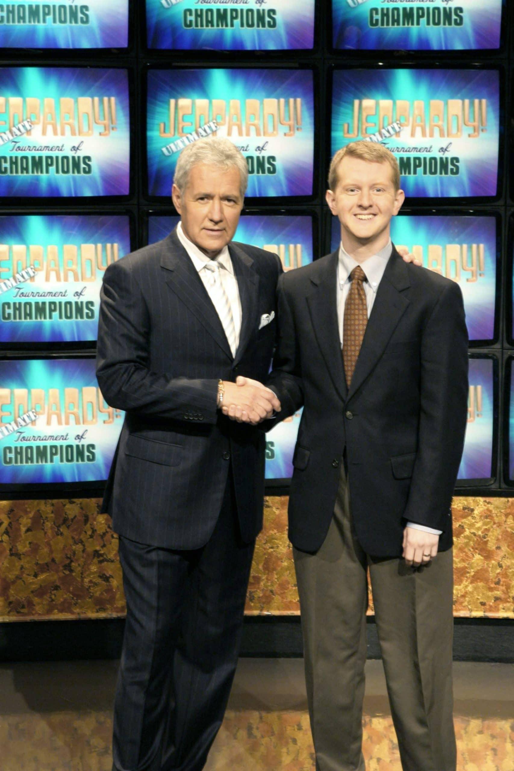 JEOPARDY, host Alex Trebek, Ken Jennings