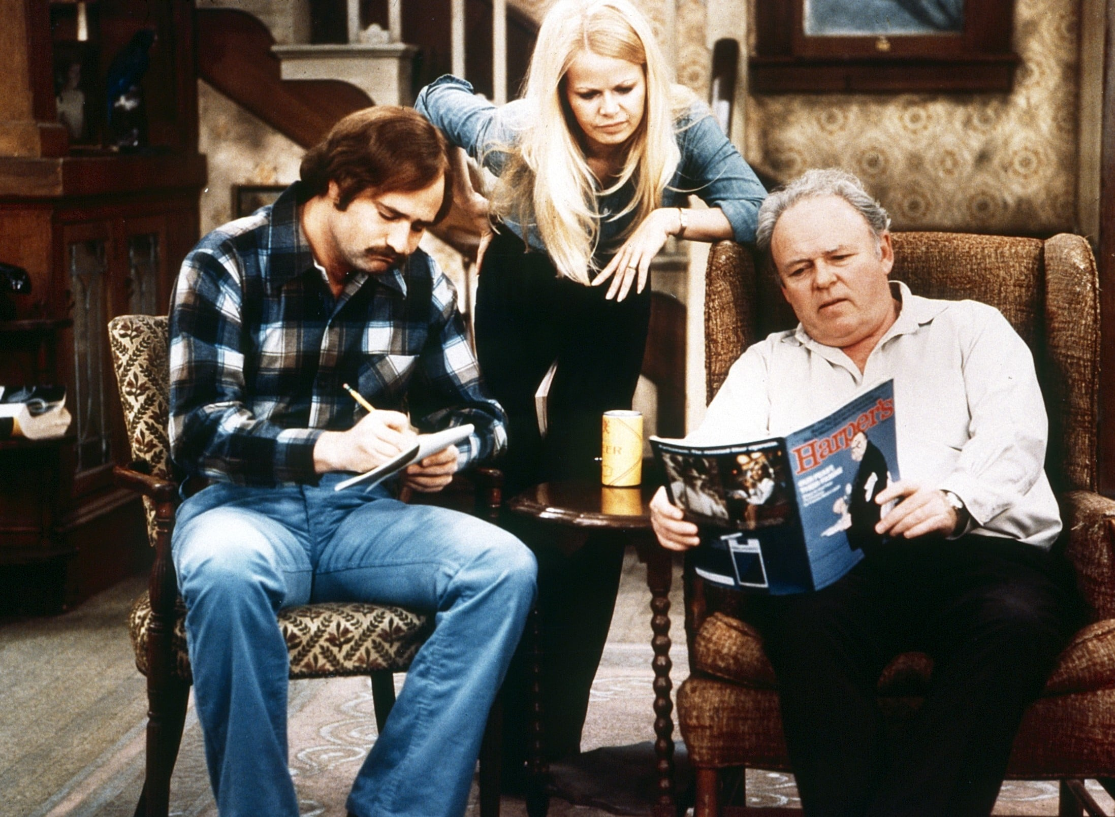ALL IN THE FAMILY, from left: Rob Reiner, Sally Struthers, Carroll O'Connor