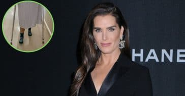 brooke shields learning to walk again after breaking her femur