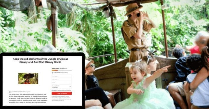 fans petition disney changing jungle cruise ride