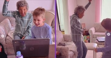 A 102-year-old great-grandma attends virtual gym class