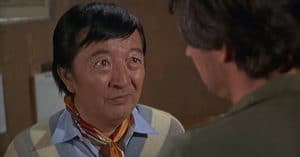 Jack Soo during his first appearance on M*A*S*H