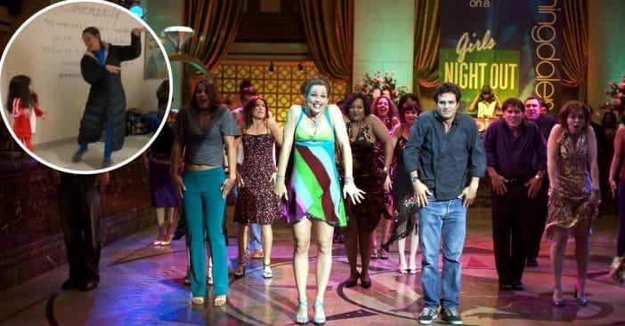 Jennifer Garner recreates 13 going on 30 dance