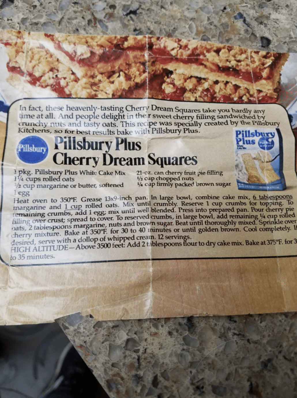 Cherry Dream Squares '70s Dessert