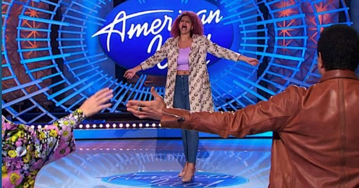 Wray wowed judges Katie Perry, Lionel Richie, and Luke Bryan / ABC via Yahoo!