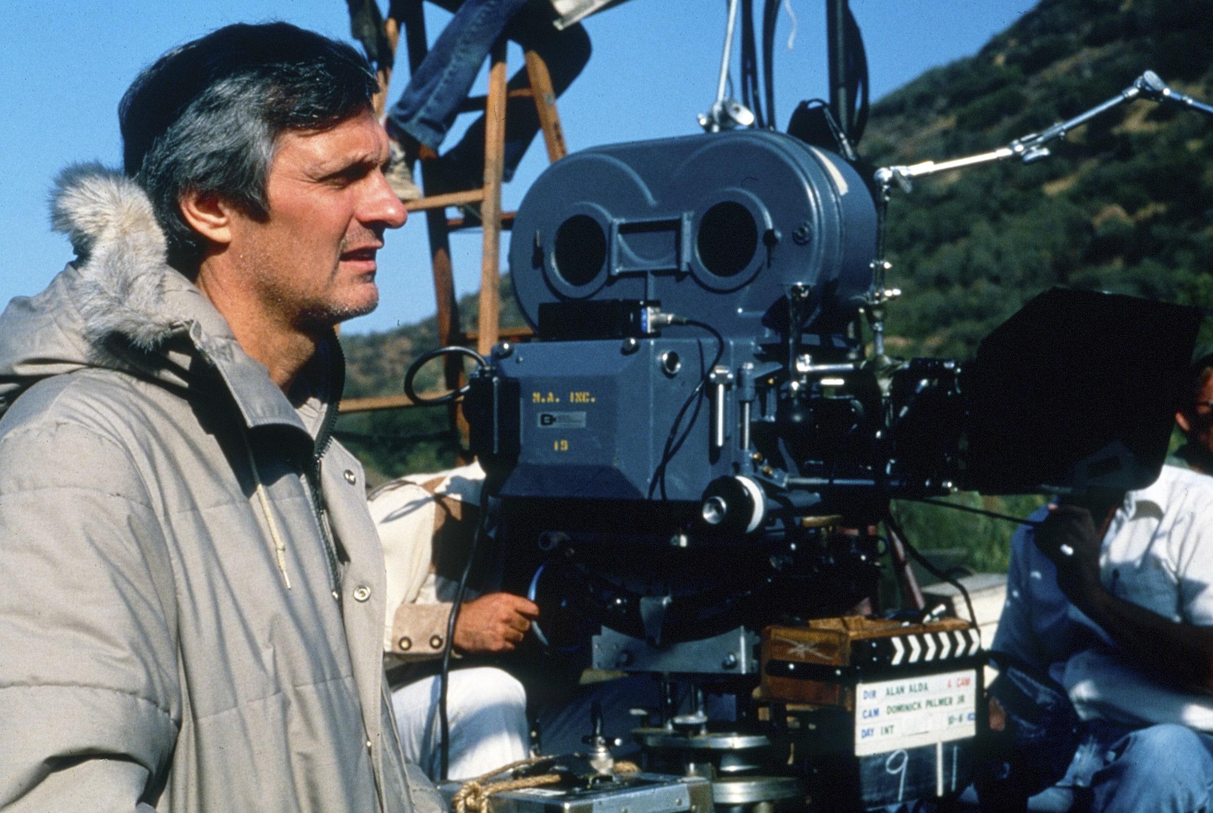 MASH, (aka M*A*S*H*), director Alan Alda, on set