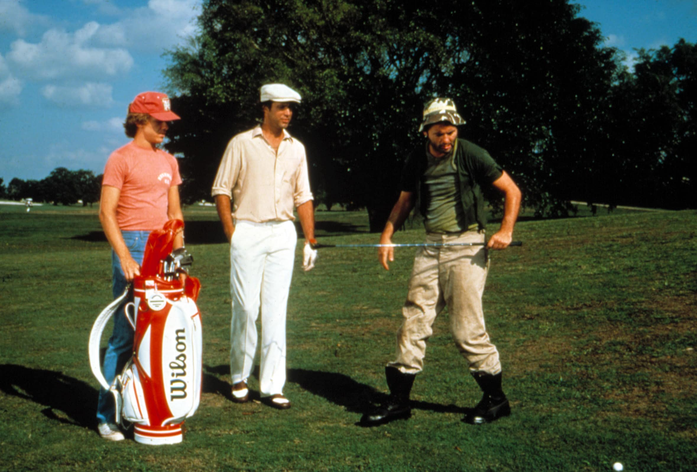 CADDYSHACK, Michael O'Keefe, Chevy Chase, Bill Murray, 1980