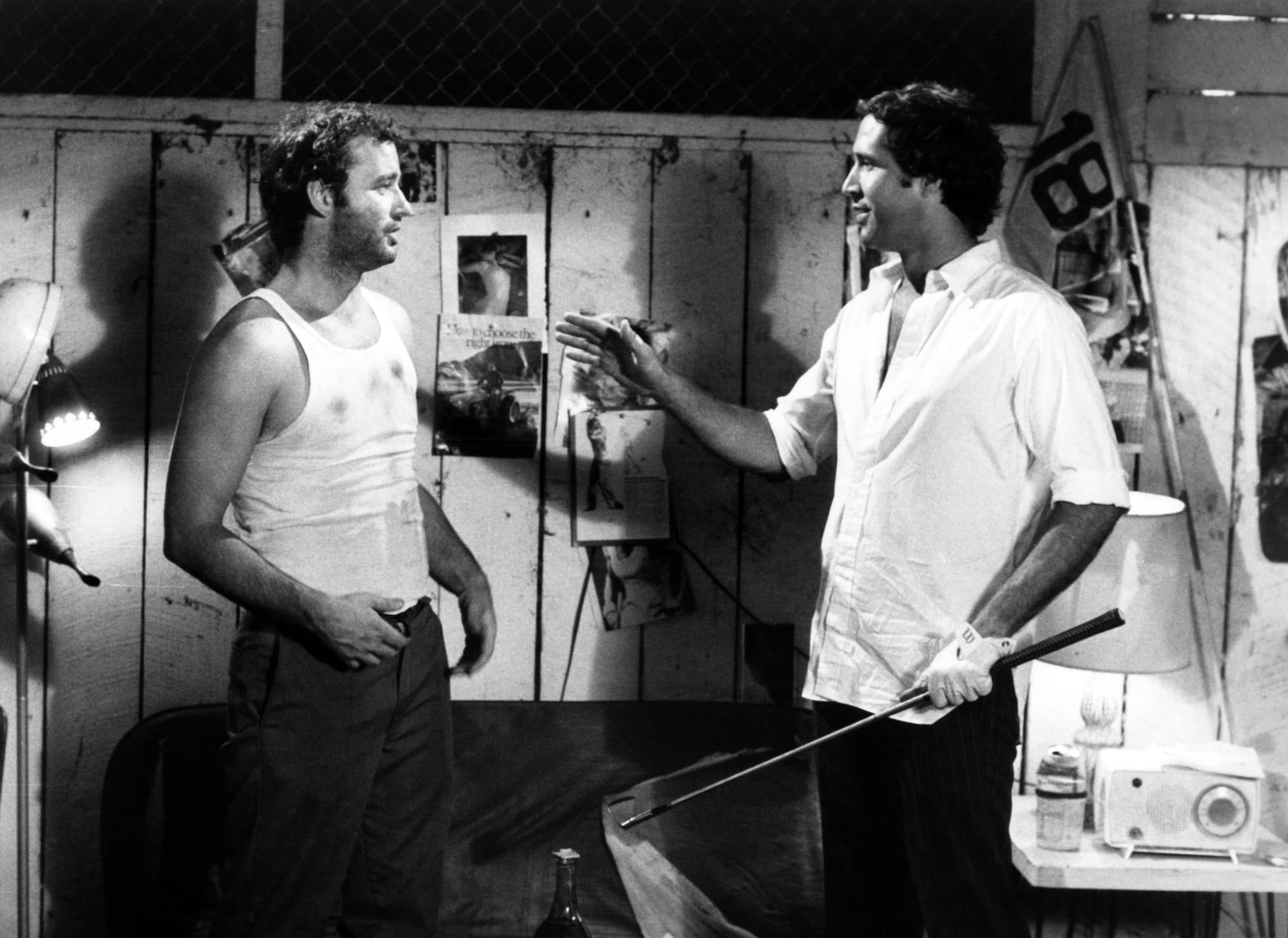 CADDYSHACK, Bill Murray, Chevy Chase, 1980