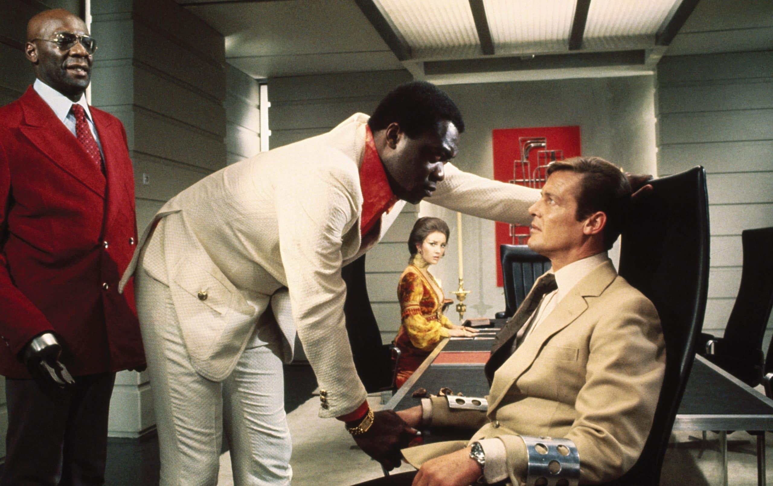 LIVE AND LET DIE, Julius Harris, Yaphet Kotto, Jane Seymour, Roger Moore, 1973 james bond