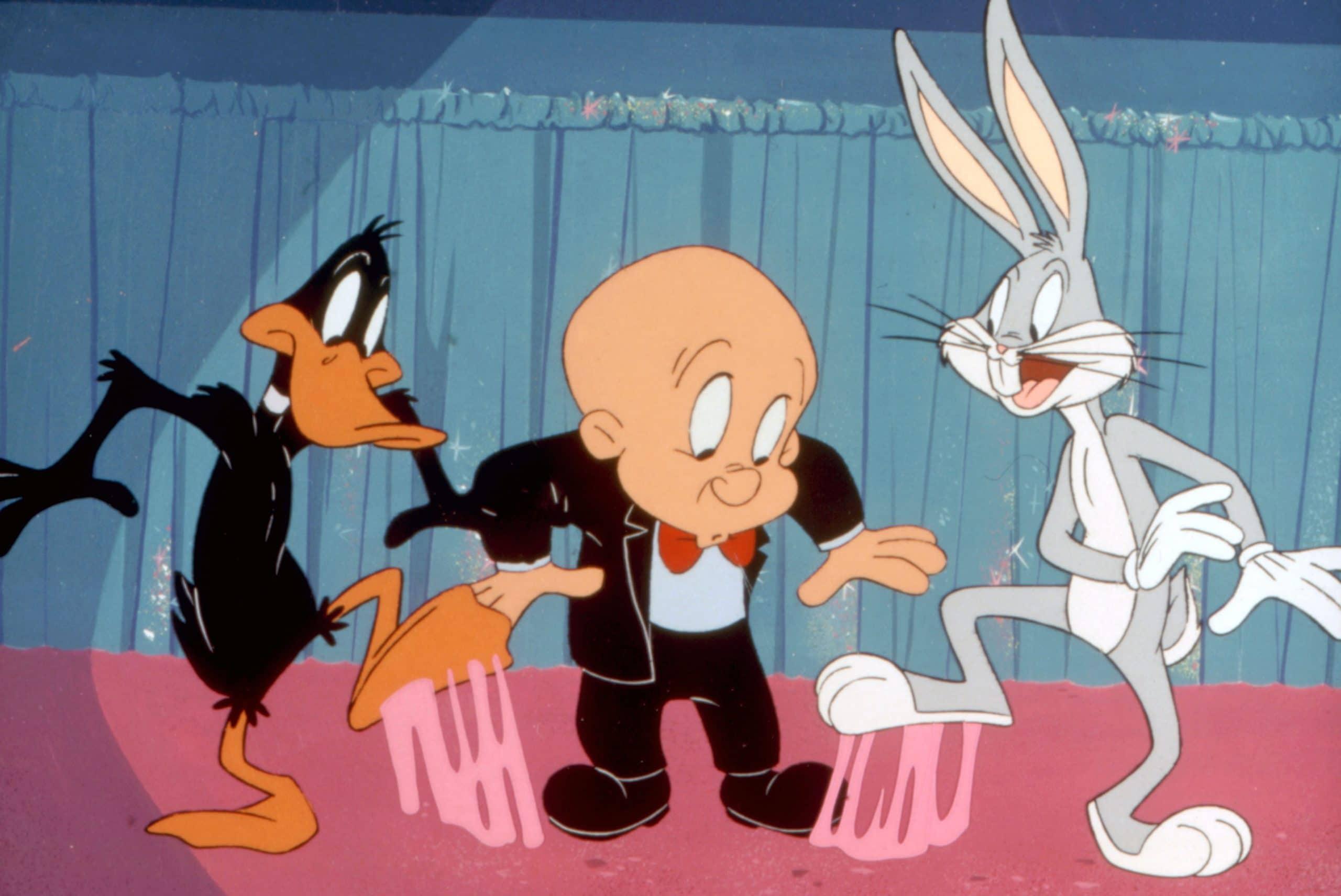 BOX-OFFICE BUNNY, Daffy Duck, Elmer Fudd, Bugs Bunny looney tunes