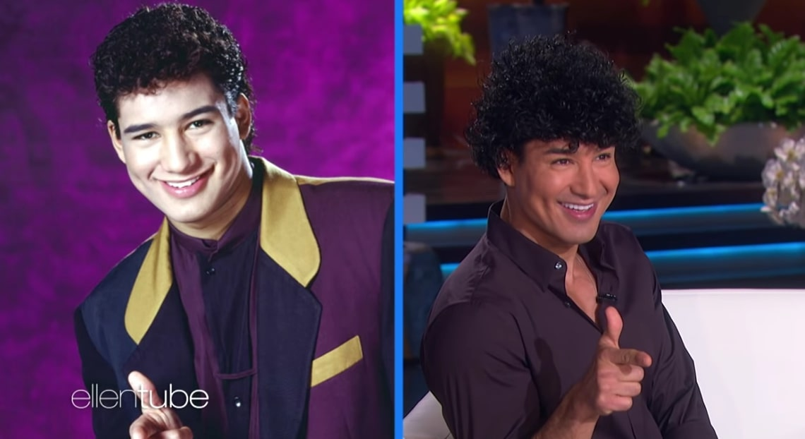 Mario Lopez recreates 'Saved by the Bell' hairstyle look