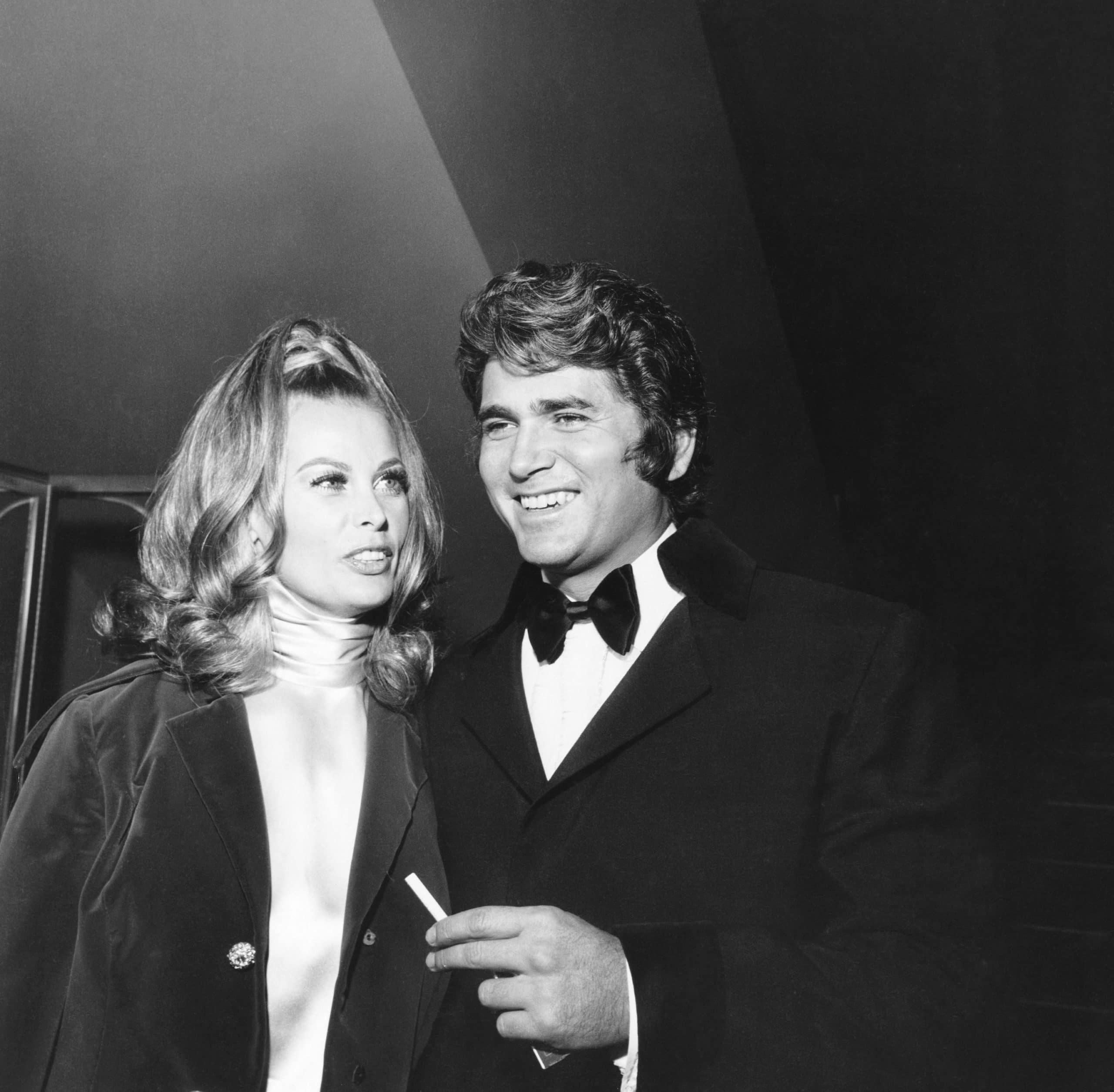 Michael Landon and his second wife, actress Lynn Noe,