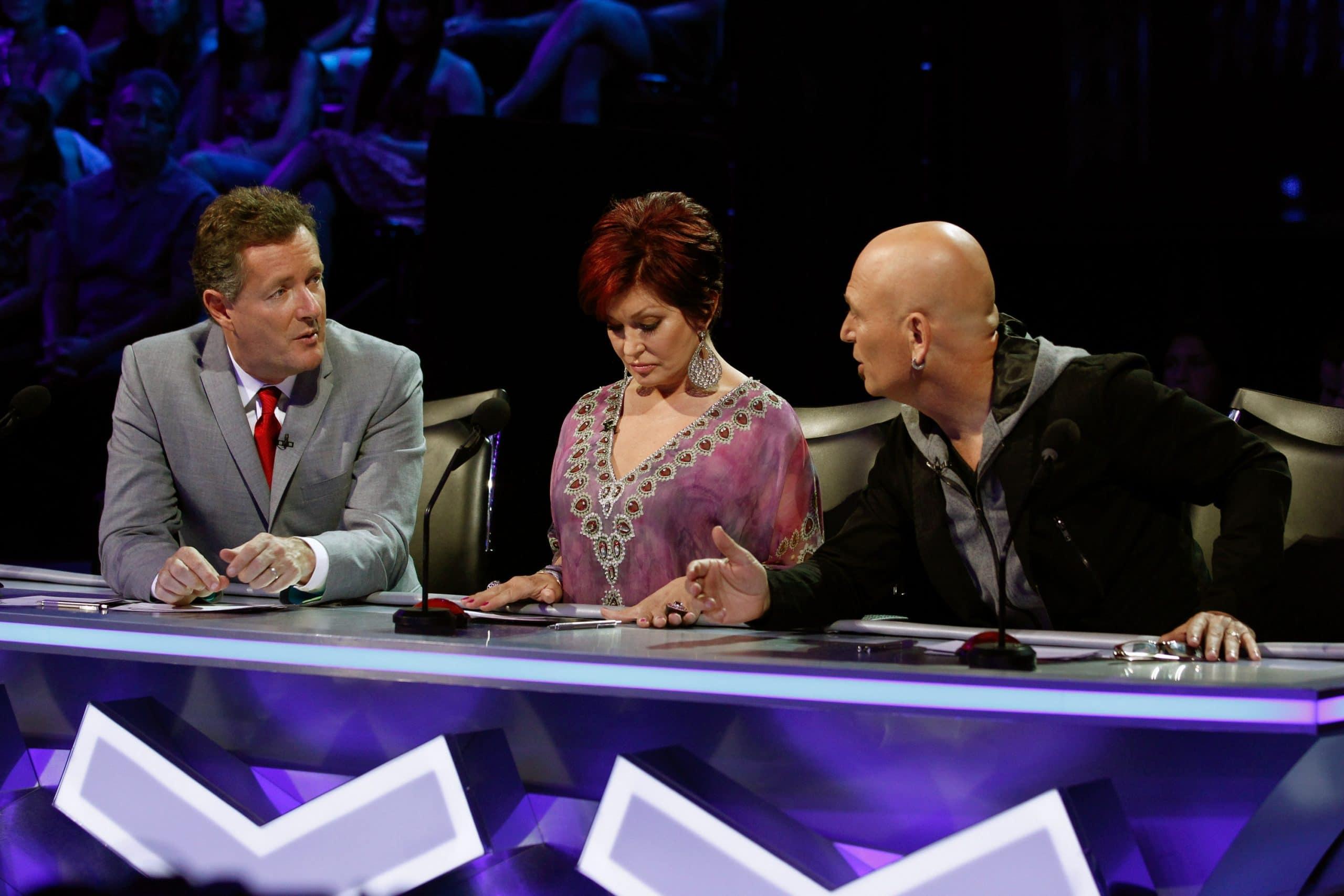 AMERICA'S GOT TALENT judges Piers Morgan, Sharon Osbourne, Howie Mandel