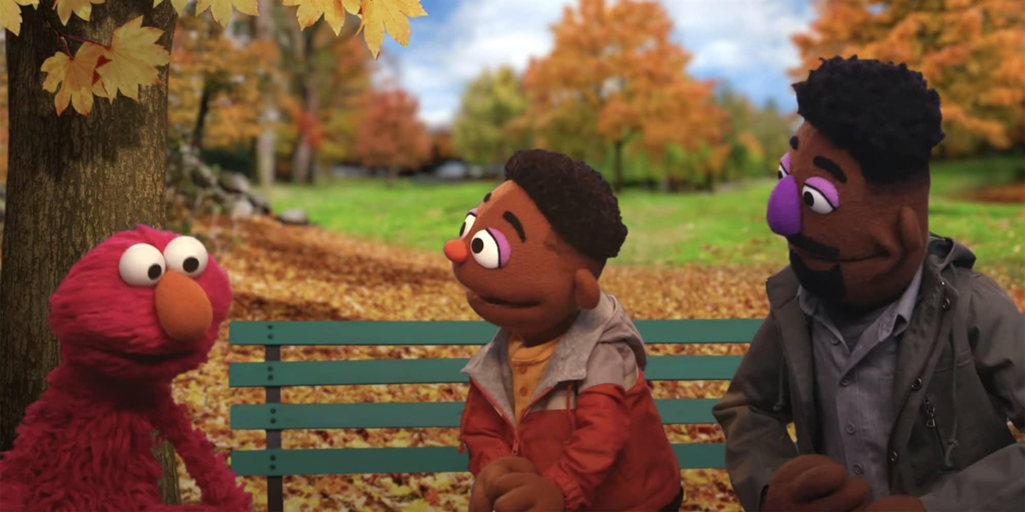 sesame street two black muppets discuss racial literacy