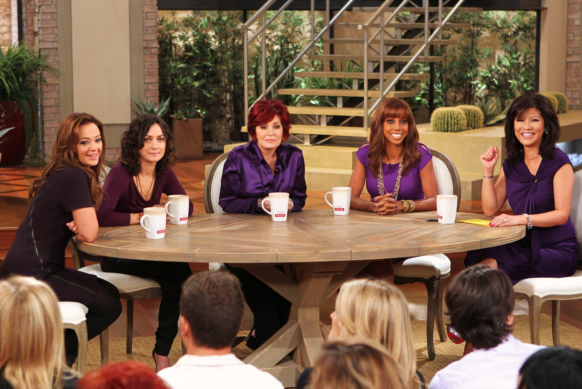 the talk co hosts Leah Remini, Sara Gilbert, Sharon Osbourne, Holly Robinson Peete, Julie Chen