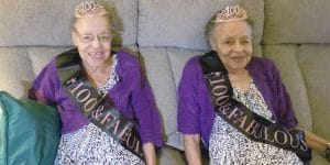 100-year-old-twins Elaine Foster and Evelyn Lowe