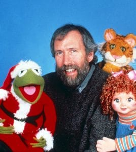 THE CHRISTMAS TOY, from left: Kermit the Frog, Jim Henson, Mew, Apple
