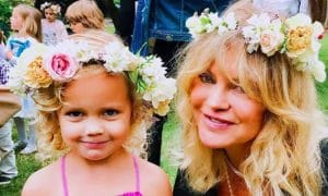 Goldie Hawn and her granddaughter