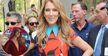 Celine Dion Stuns In Plunging Gown And Metallic Gold Heels In New Clip