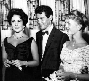 Elizabeth Taylor, Eddie Fisher, Debbie Reynolds at the Tropicana Hotel in Las Vegas, June 19, 1958, Hollywood
