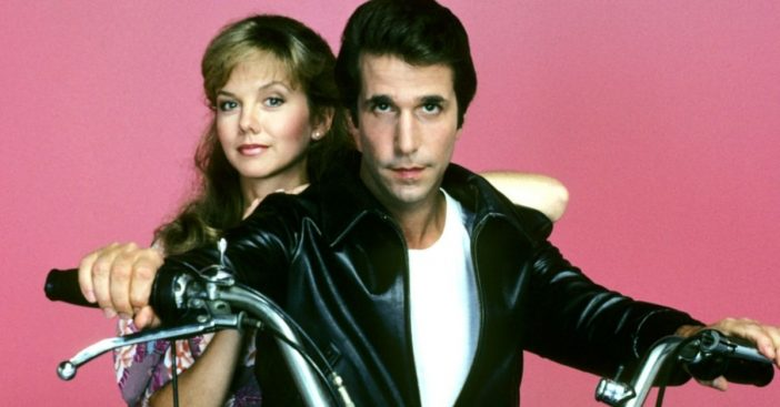 Linda Purl and Henry Winkler in 'Happy Days'